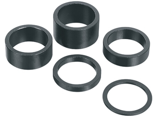 "Humpert Ergotec Headset Spacer 1 1/8"" 2mm sandblasted black"
